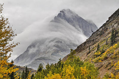 Glacier National Park Wall Art - Photograph - Grinnell Cloud Wrap by Mark Kiver