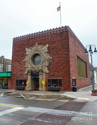 Grinnell Iowa - Louis Sullivan - Jewel Box Bank - 03 Art Print by Gregory Dyer