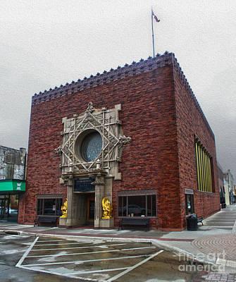 Grinnell Iowa - Louis Sullivan - Jewel Box Bank - 04 Art Print by Gregory Dyer