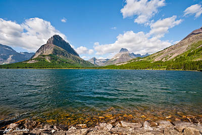 Grinnell Point From Swiftcurrent Lake Art Print