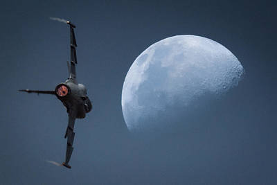 Photograph - Gripen Moon by Paul Job