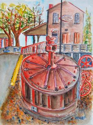 Grist Mill Painting - Grist And Roller Mill by Elaine Duras