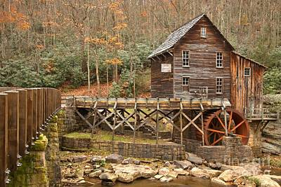 Woden Wall Art - Photograph - Grist Mill At Babcock State Park by Adam Jewell