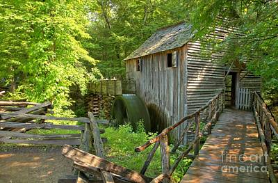 Photograph - Grist Mill At Cades Cove by Adam Jewell
