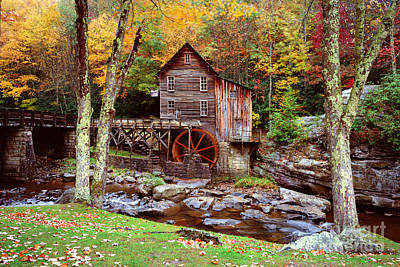 Grist Mill In Babcock St. Park Art Print