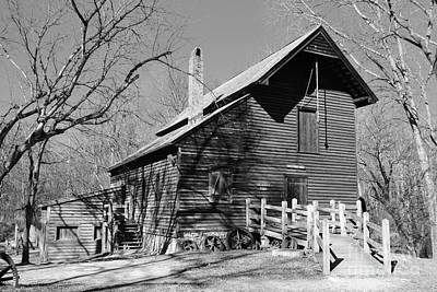 Photograph - Grist Mill In Black And White by Bob Sample