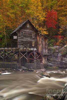 Photograph - Grist Mill In Fall On Glade Creek by Dan Friend
