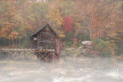 Photograph - Grist Mill In Morning In The Fall by Dan Friend