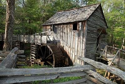 Waterwheel Photograph - Grist Mill by Jim West