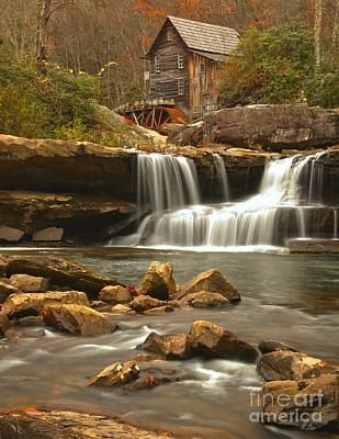 Woden Wall Art - Photograph - Grist Mill On Glade Creek by Adam Jewell