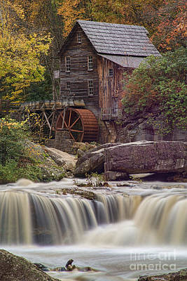 Photograph - Grist Mill On Glade Creek In The Fall by Dan Friend