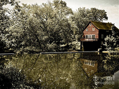 Photograph - Grist Mill On Pike Brook by Colleen Kammerer