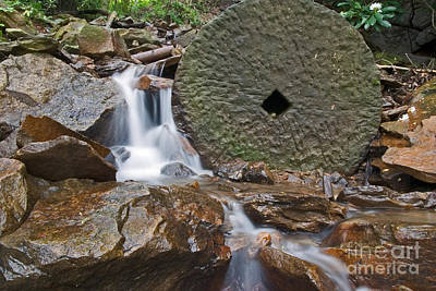 Photograph - Grist Mill Stone by Jeannette Hunt