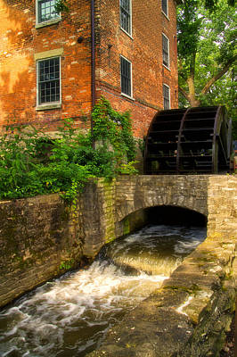 Grist Mill Art Print by Thomas Woolworth