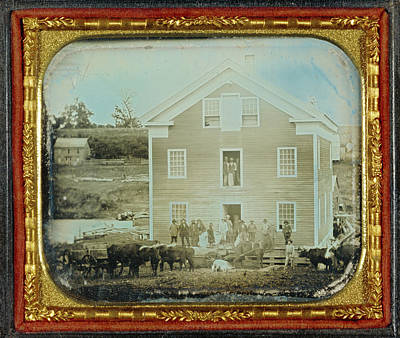 Grist Mill Drawing - Grist Mill Unknown Maker, American About 1845 Daguerreotype by Litz Collection