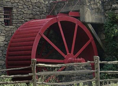 Photograph - Grist Mill Water Wheel by Patricia Urato