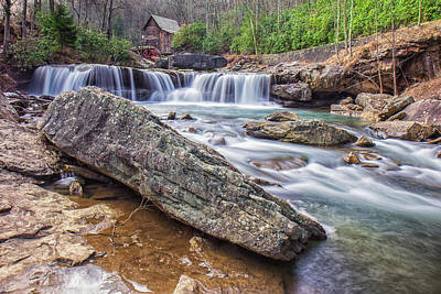 Photograph - Gristmill At The Creek by Mary Almond