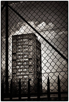 Photograph - Gritty London Tower Block And Fence - East End London by Lenny Carter