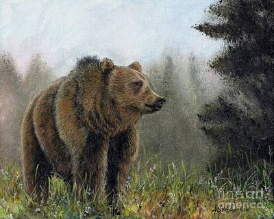 Painting - Grizzly by Amanda Hukill