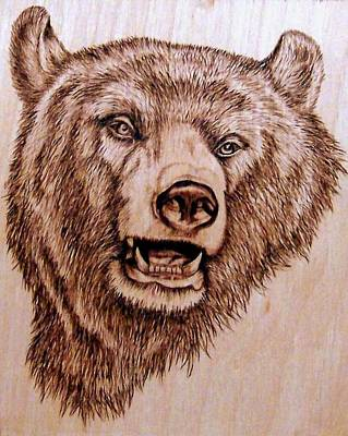 Pyrography Pyrography - Grizzly Bear by Danette Smith
