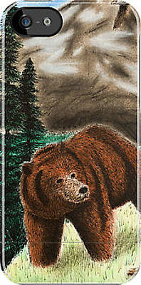 Grizzly Bear Mixed Media - Grizzly Bear Iphone by Jeanette K