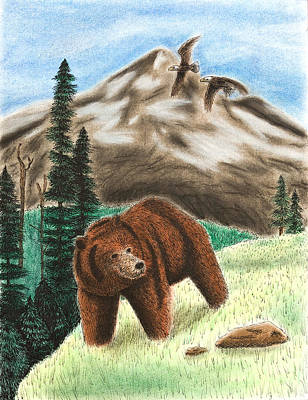 Grizzly Bear Mixed Media - Grizzly Bear by Jeanette K
