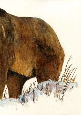 Grizzly Bear Painting - Grizzly Bear Second Part by Juan  Bosco