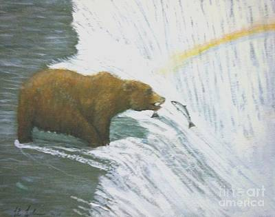 Painting - Grizzly Bear Take Out by Larry E  Lamb