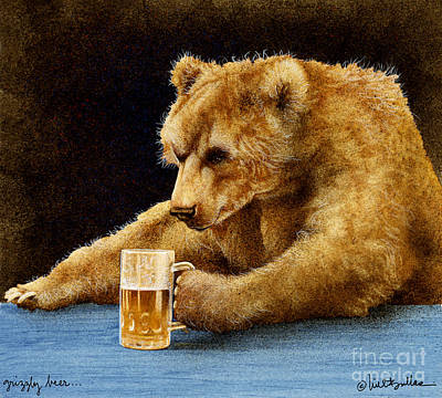Grizzly Beer... Art Print by Will Bullas