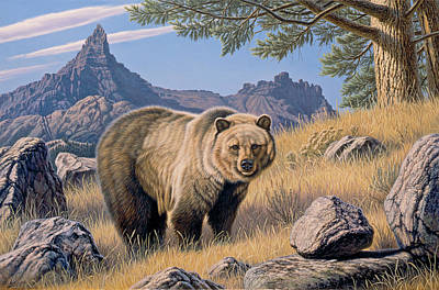 Grizzly Bear Painting - Grizzly Country by Paul Krapf