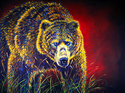 Kodiak Painting - Grizzly Gaze by Teshia Art