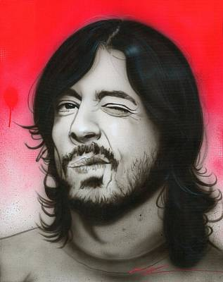 Foo Fighters Painting - Dave Grohl - ' Grohl IIi ' by Christian Chapman Art