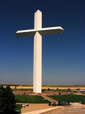 Christ On Cross Photograph - Groom Texas Cross by Marilyn Smith