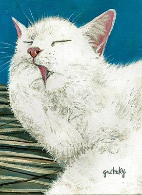 Licking Painting - Grooming by Paintings by Gretzky