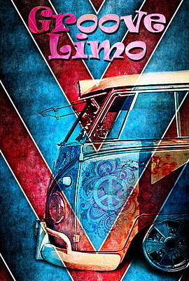 Digital Art - Groove Limo by Greg Sharpe