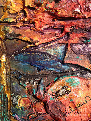 Mixed Media - Grooved Lines by Angela L Walker