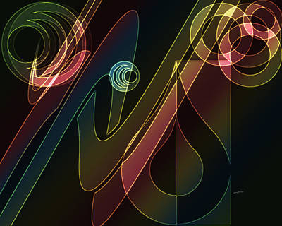 Merging Digital Art - Groovin' by Anthony Caruso