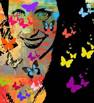 Groovy Butterfly Gal Art Print