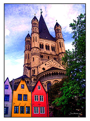 Photograph - Gross St. Martin In Cologne Germany by Joan  Minchak
