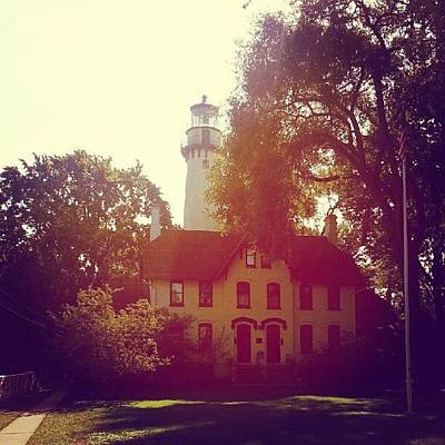 Chicago Photograph - Grosse Point Lighthouse 1873 by Jill Tuinier
