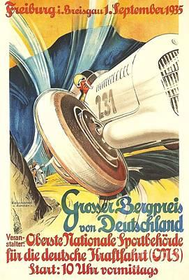 Painting - Grosser Bergpreis Von Deutschland by Roberto Prusso