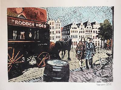 Painting - Grote Markt Antwerpen by Varvara Stylidou