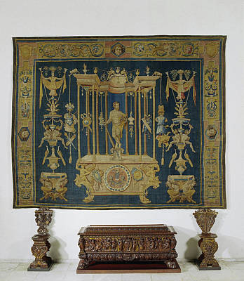 Grotesk Carpet With Hercules, Master Of Geometric Mark Art Print