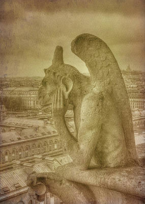 Photograph - Grotesque From Notre Dame by Michael Kirk