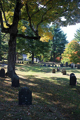 Photograph - Groton Cemetery 1 by Mary Bedy