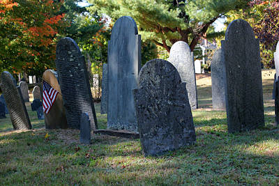 Photograph - Groton Cemetery 3 by Mary Bedy