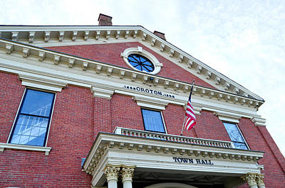 Photograph - Groton Ma Town Hall 2 by Staci Bigelow