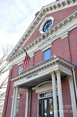 Photograph - Groton Ma Town Hall by Staci Bigelow