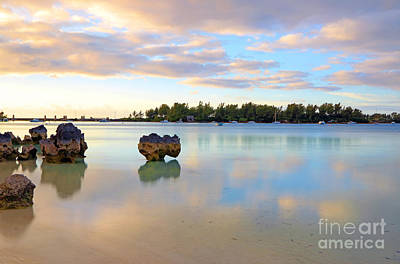Photograph - Grotto Bay Dusk by Charline Xia