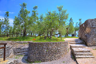 Grotto Catullus At The Lake Garda In Sirmione Original by Regina Koch